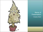 Cartoon christmas tree PowerPoint Templates