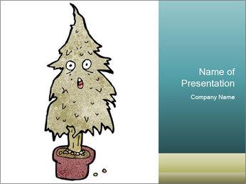 Cartoon christmas tree PowerPoint Template - Slide 1