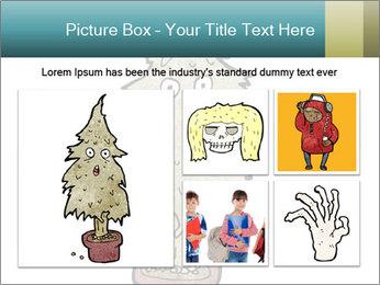 Cartoon christmas tree PowerPoint Template - Slide 19