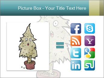 Cartoon christmas tree PowerPoint Template - Slide 21