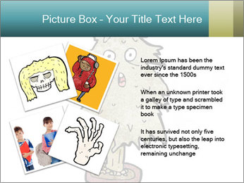 Cartoon christmas tree PowerPoint Template - Slide 23