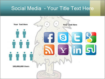 Cartoon christmas tree PowerPoint Template - Slide 5