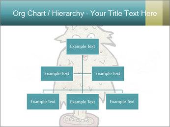Cartoon christmas tree PowerPoint Template - Slide 66