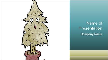 Cartoon Christmas Tree Powerpoint Template Backgrounds Google