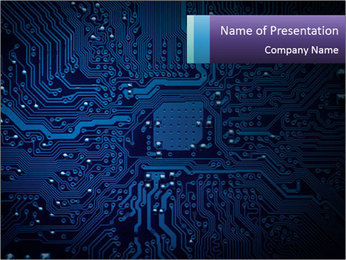 Circuit board PowerPoint Templates - Slide 1
