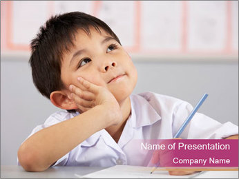 Chinese School Classroom PowerPoint Template - Slide 1