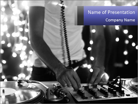 A cool male dj PowerPoint Template