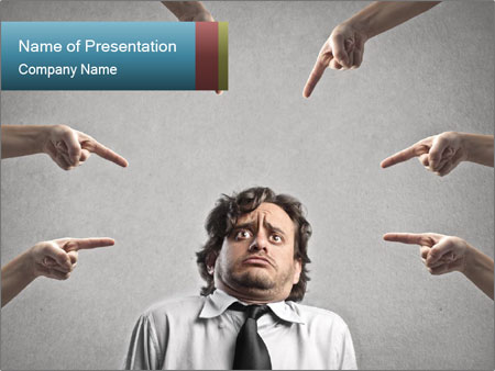 Man judged PowerPoint Templates