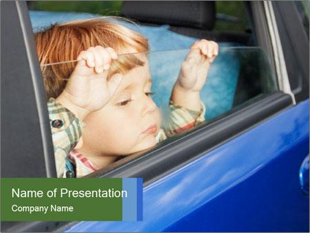 Little kid is sad PowerPoint Templates