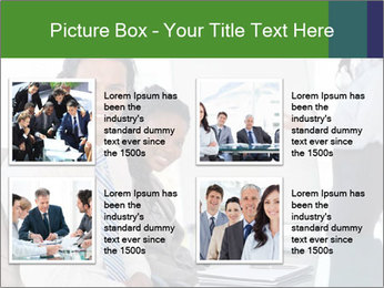 Meeting room during a presentation PowerPoint Template - Slide 14