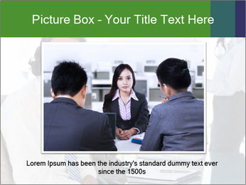 Meeting room during a presentation PowerPoint Template - Slide 15