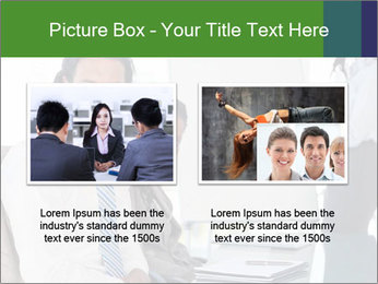 Meeting room during a presentation PowerPoint Template - Slide 18