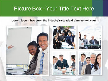Meeting room during a presentation PowerPoint Template - Slide 19