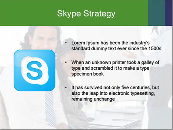 Meeting room during a presentation PowerPoint Template - Slide 8