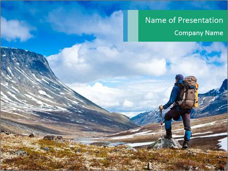 Mountain panorama PowerPoint Template