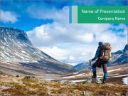 Mountain panorama PowerPoint Template