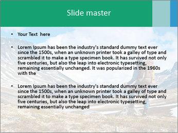 Mountain panorama PowerPoint Template - Slide 2