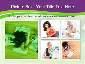A girl laying on the Floor PowerPoint Templates - Slide 19