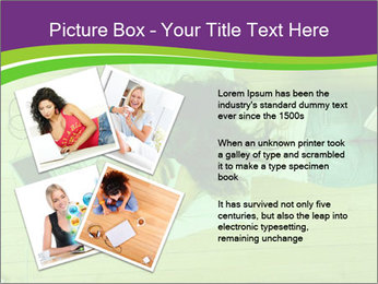 A girl laying on the Floor PowerPoint Templates - Slide 23