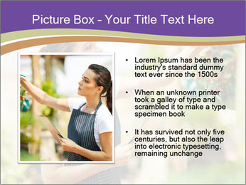 Florist checking flowers PowerPoint Template - Slide 13