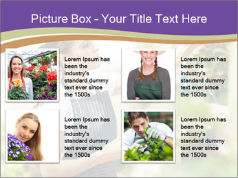 Florist checking flowers PowerPoint Template - Slide 14