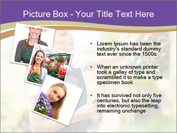 Florist checking flowers PowerPoint Template - Slide 17