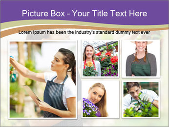 Florist checking flowers PowerPoint Template - Slide 19