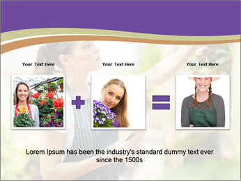Florist checking flowers PowerPoint Templates - Slide 22