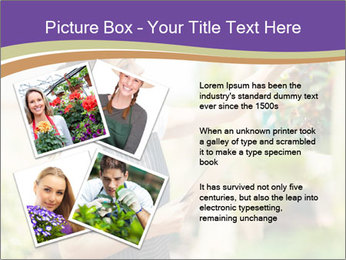 Florist checking flowers PowerPoint Template - Slide 23