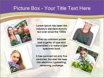 Florist checking flowers PowerPoint Templates - Slide 24