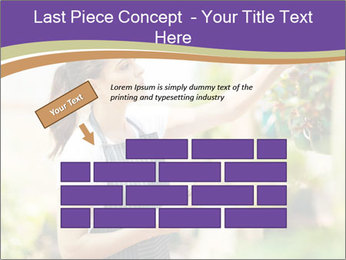 Florist checking flowers PowerPoint Template - Slide 46