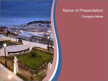 Sao Pedro de Alcantara Garden PowerPoint Templates - Slide 1