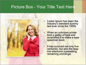 Woman talking on phone PowerPoint Template - Slide 13