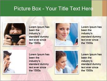 Woman talking on phone PowerPoint Template - Slide 14