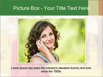 Woman talking on phone PowerPoint Template - Slide 16