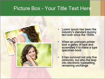 Woman talking on phone PowerPoint Template - Slide 20