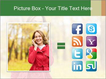 Woman talking on phone PowerPoint Template - Slide 21