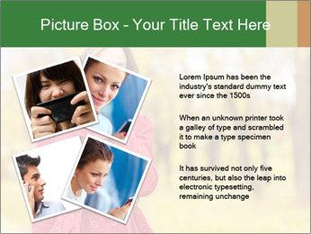 Woman talking on phone PowerPoint Template - Slide 23