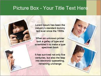 Woman talking on phone PowerPoint Template - Slide 24