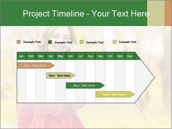 Woman talking on phone PowerPoint Template - Slide 25