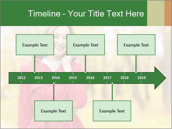 Woman talking on phone PowerPoint Template - Slide 28