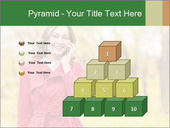 Woman talking on phone PowerPoint Template - Slide 31