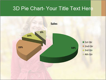 Woman talking on phone PowerPoint Template - Slide 35