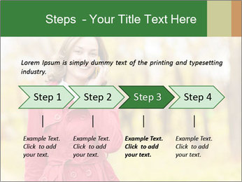 Woman talking on phone PowerPoint Template - Slide 4
