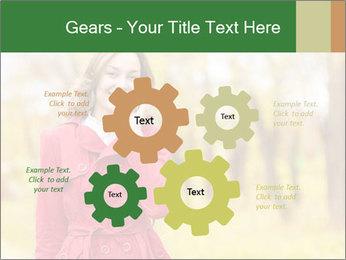 Woman talking on phone PowerPoint Templates - Slide 47