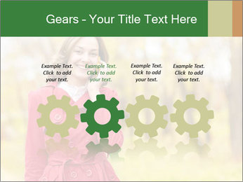 Woman talking on phone PowerPoint Template - Slide 48