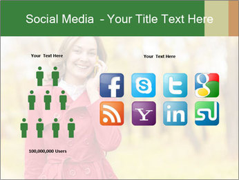 Woman talking on phone PowerPoint Template - Slide 5