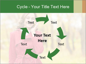 Woman talking on phone PowerPoint Template - Slide 62