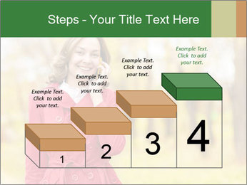 Woman talking on phone PowerPoint Template - Slide 64