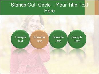 Woman talking on phone PowerPoint Templates - Slide 76